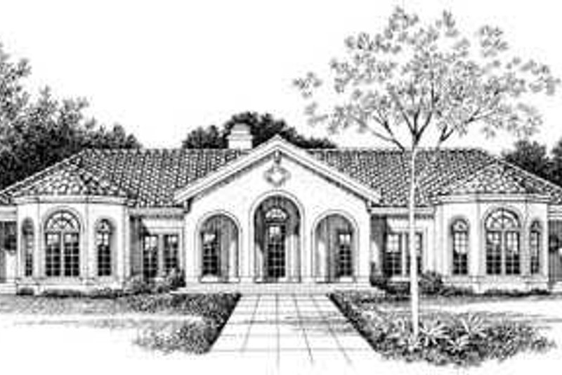 Mediterranean Exterior - Other Elevation Plan #72-161 - Houseplans.com