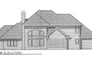 Traditional Style House Plan - 3 Beds 2.5 Baths 2673 Sq/Ft Plan #70-428 Exterior - Rear Elevation