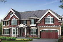 Craftsman Exterior - Front Elevation Plan #132-457