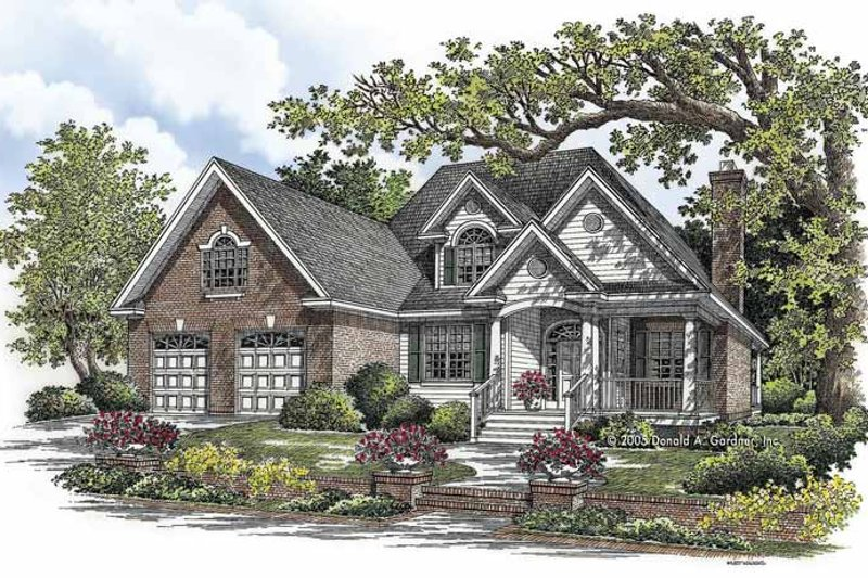 Dream House Plan - Traditional Exterior - Front Elevation Plan #929-768