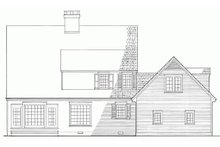 Colonial Exterior - Rear Elevation Plan #137-207