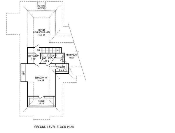European Floor Plan - Upper Floor Plan Plan #932-11