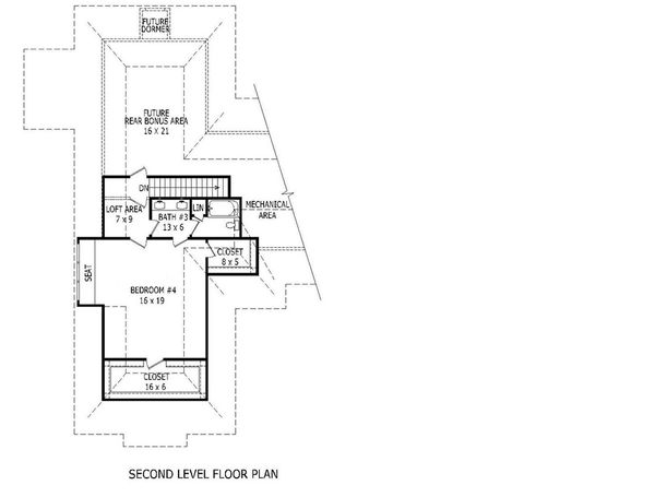 European Floor Plan - Upper Floor Plan Plan #932-11