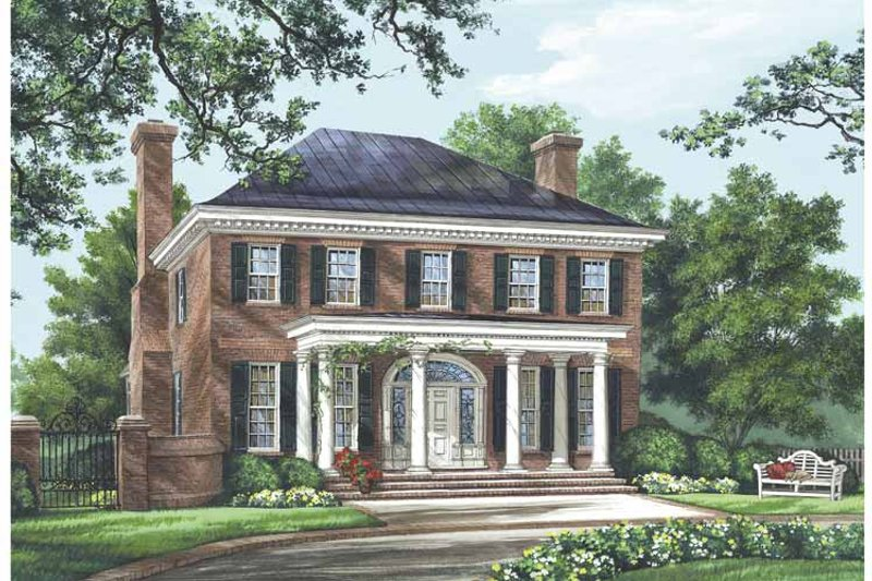 Classical Exterior - Front Elevation Plan #137-334 - Houseplans.com