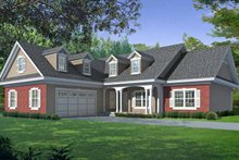 Country Exterior - Front Elevation Plan #1037-34