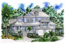 House Plan Design - Mediterranean Exterior - Front Elevation Plan #1017-54