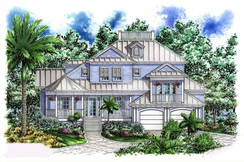 House Plan Design - Mediterranean Exterior - Front Elevation Plan #1017-54