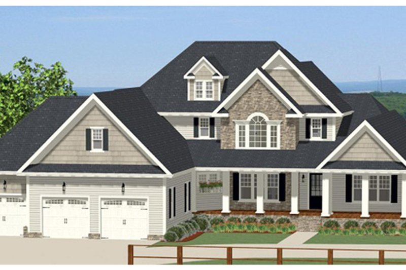 Traditional Exterior - Front Elevation Plan #898-39 - Houseplans.com