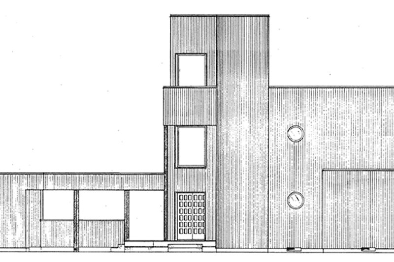 Contemporary Exterior - Front Elevation Plan #320-1018 - Houseplans.com