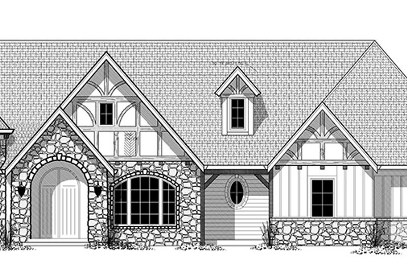 Tudor Exterior - Front Elevation Plan #943-44 - Houseplans.com