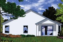 Country Exterior - Rear Elevation Plan #1015-37