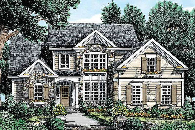 Country Exterior - Front Elevation Plan #927-271 - Houseplans.com
