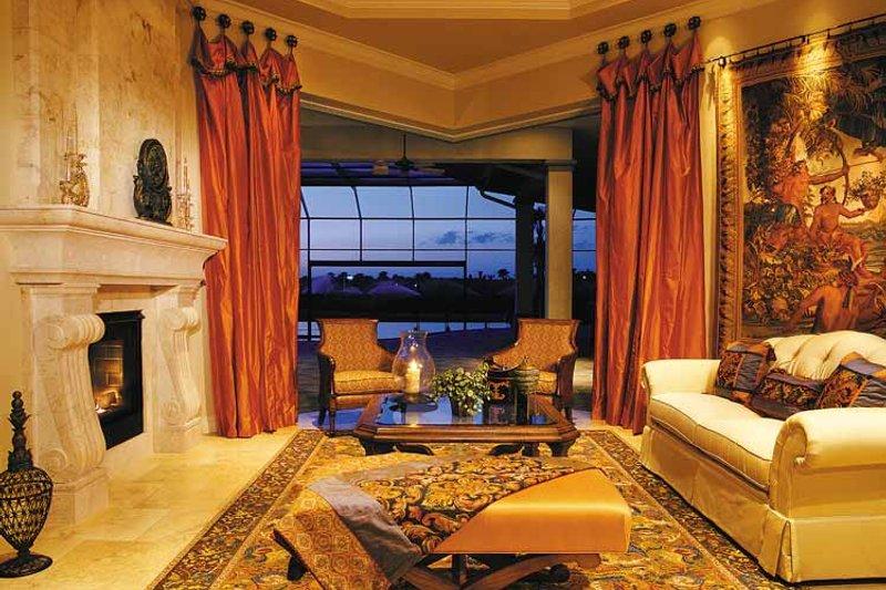 Mediterranean Interior - Family Room Plan #930-316 - Houseplans.com