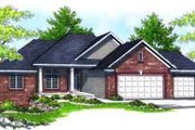 Traditional Style House Plan - 3 Beds 2 Baths 1686 Sq/Ft Plan #70-610 Exterior - Front Elevation