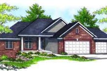 Home Plan - Traditional Exterior - Front Elevation Plan #70-610