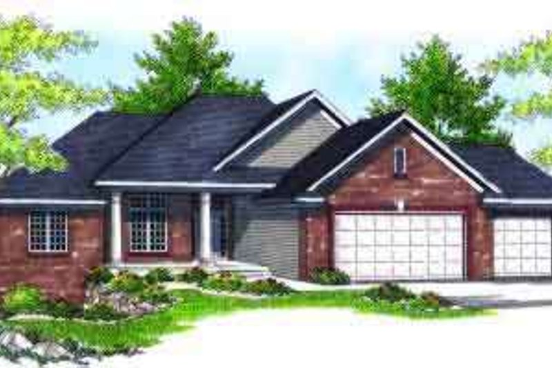 Traditional Exterior - Front Elevation Plan #70-610