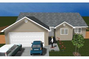 House Plan Design - Ranch Exterior - Front Elevation Plan #1060-14