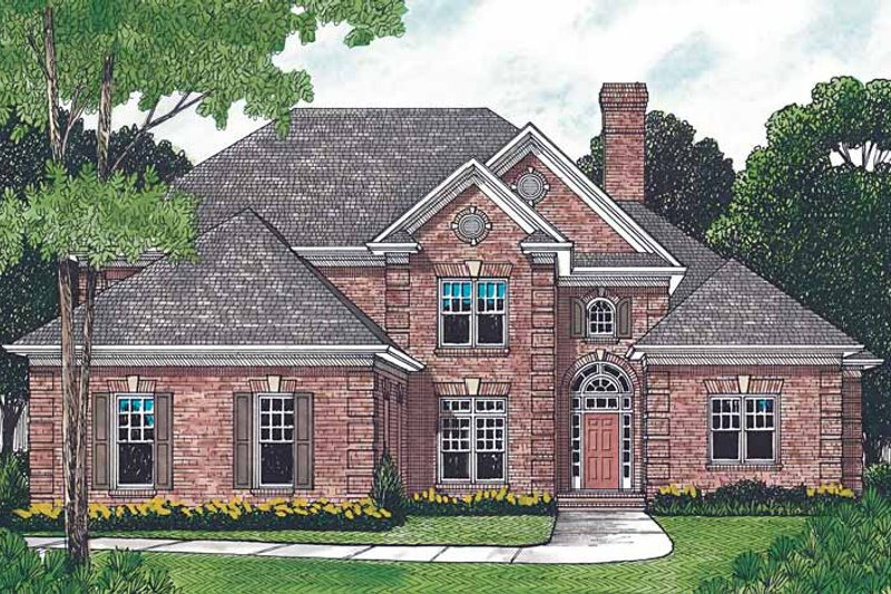 House Plan Design - Traditional Exterior - Front Elevation Plan #453-181