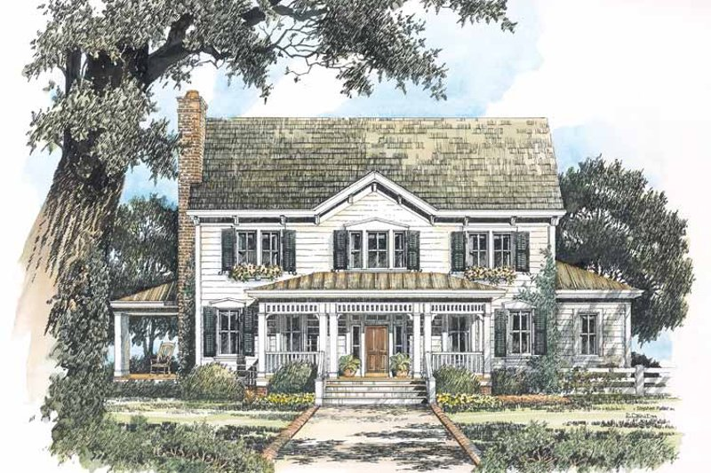 Home Plan Design - Victorian Exterior - Front Elevation Plan #429-200