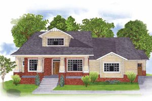 Architectural House Design - Craftsman Exterior - Front Elevation Plan #950-1