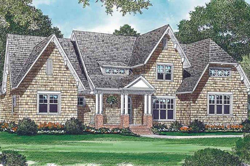 Dream House Plan - Craftsman Exterior - Front Elevation Plan #453-414