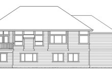 Craftsman Exterior - Rear Elevation Plan #132-341