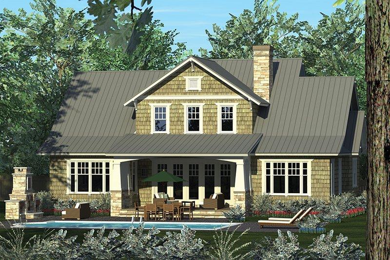 Craftsman Exterior - Rear Elevation Plan #453-625 - Houseplans.com