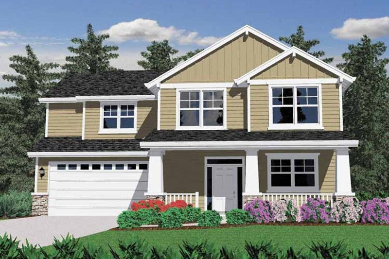 Prairie Exterior - Front Elevation Plan #509-226