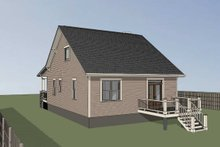 Bungalow Exterior - Rear Elevation Plan #79-206