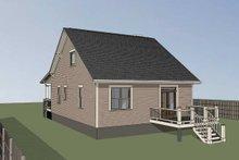 Home Plan - Bungalow Exterior - Rear Elevation Plan #79-206