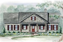 House Plan Design - Country Exterior - Front Elevation Plan #54-265