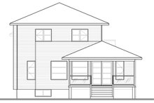 Home Plan - Contemporary Exterior - Rear Elevation Plan #23-2580
