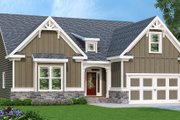 Craftsman Style House Plan - 3 Beds 2 Baths 2234 Sq/Ft Plan #419-252 Exterior - Front Elevation