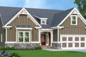 Craftsman Exterior - Front Elevation Plan #419-252