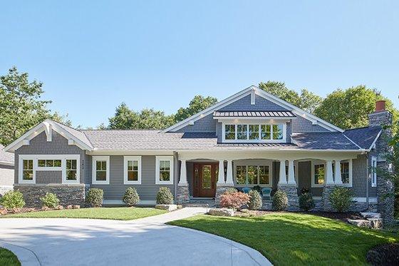 Dream House Plan - Craftsman Exterior - Front Elevation Plan #928-295