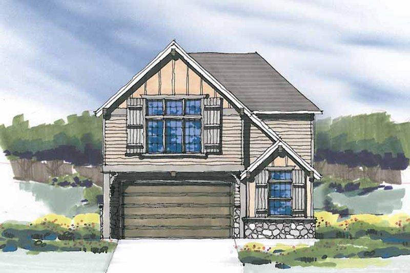 Craftsman Exterior - Front Elevation Plan #509-271 - Houseplans.com
