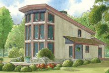 Contemporary Exterior - Front Elevation Plan #17-3377