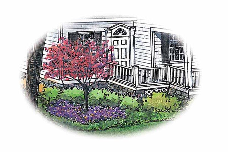 Exterior - Front Elevation Plan #1040-10 - Houseplans.com