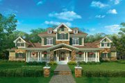 European Style House Plan - 3 Beds 2.5 Baths 2889 Sq/Ft Plan #930-205 Exterior - Front Elevation