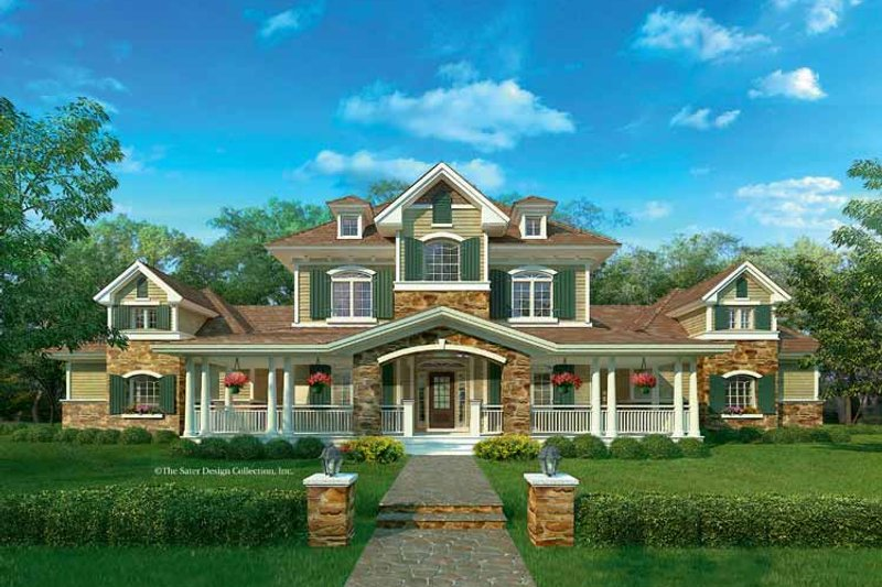 European Exterior - Front Elevation Plan #930-205