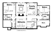 European Floor Plan - Lower Floor Plan Plan #928-20