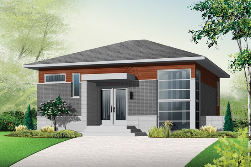 Home Plan - Contemporary Exterior - Front Elevation Plan #23-2537