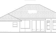 Mediterranean Exterior - Rear Elevation Plan #1058-35