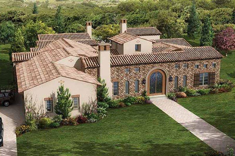 House Plan Design - Mediterranean Exterior - Front Elevation Plan #944-1