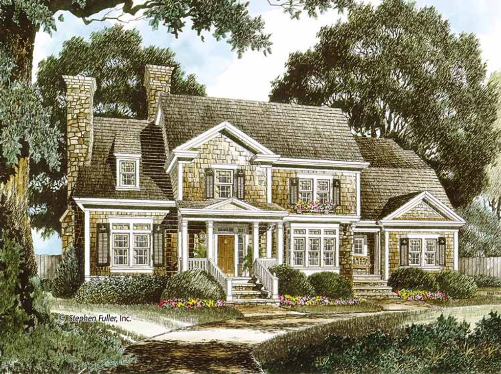 Colonial style house plan 4 beds 4 baths 3548 sq ft plan for 429 plan