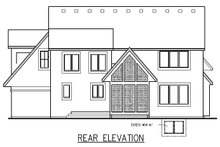Traditional Exterior - Rear Elevation Plan #56-598