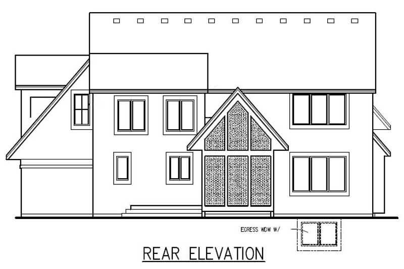 Traditional Exterior - Other Elevation Plan #56-598 - Houseplans.com