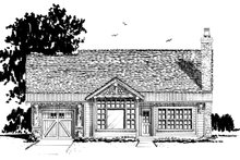Cabin Exterior - Front Elevation Plan #942-59