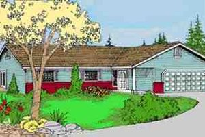 Ranch Exterior - Front Elevation Plan #60-608