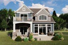 House Design - Cottage Exterior - Rear Elevation Plan #1064-108